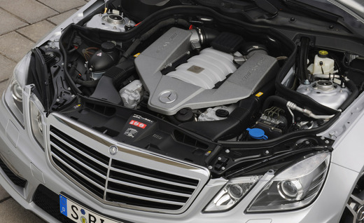 Mercedes engine bay - servicing